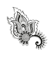 zentangle boho flower vector image