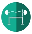 Brench press exercise gym design shadow vector image