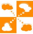 Set of Cloud Shape Speech Bubbles vector image