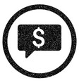 money message rounded icon rubber stamp vector image