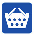 blue white information sign shopping basket icon vector image