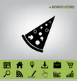 pizza simple sign  black icon at gray vector image