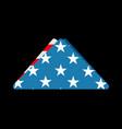 folded usa flag symbol of mourning national