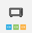 of meal symbol on oven outline vector image