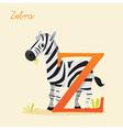 Animal alphabet with zebra vector image vector image