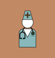 flat icon design collection doctor silhouette vector image vector image