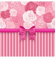 Romantic seamless background Greeting card vector image