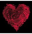 Fingerprint heart vector image