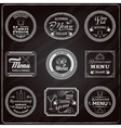 Retro Menu Labels Chalkboard vector image