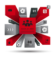 3d modern infographic red vector image