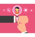 Smart wristwatch application for communication vector image