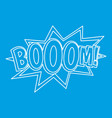 boom comic book explosion icon outline style vector image