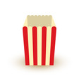 carton bowl empty of popcorn icon vector image