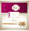 Collection of gift cards and invitations with vector image