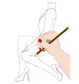 Fashion designer vector image