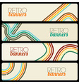 Retro Banners vector image
