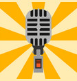 retro microphone type icon journalist vector image