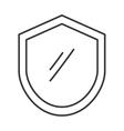 shield seal frame icon vector image