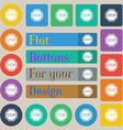 Stop icon sign Set of twenty colored flat round vector image