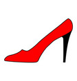 women shoe red sign 101 vector image