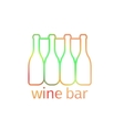 Logo design for bar with bottles vector image