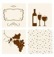 Winery design objects set vector image vector image