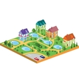 village houses vector image