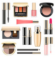 makeup icons set 3 vector image vector image