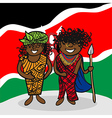 Welcome to Kenya people vector image vector image