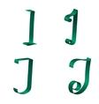 Ribbon Alphabet vector image