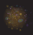 Volumetric 3D pyramid hexagon Optical black and vector image