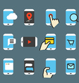 Different modern smartphone vector image vector image