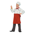 Chef with a bell vector image vector image