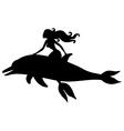 mermaid dolphin vector image vector image