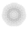 Monochrome mandala for your design vector image