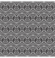 black white seamless floral pattern vector image