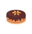 Cake Chocolate Isolated Design Flat vector image