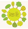 Green planet concept vector image