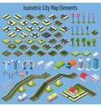 Isometric City Map Elements vector image