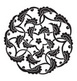 iznik style pentagram design vector image