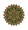Mandala pattern flower vector image