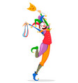 mardi gras jester in a mask vector image