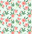 peony seamless pattern light vector image