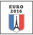 Poster or emblem for euro 2016 vector image