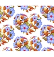 Seamless floral pattern with adenium watercolor vector image