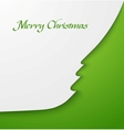 Green christmas tree applique vector image vector image