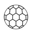 soccer balloon isolated icon vector image