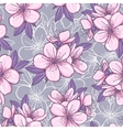 Seamless pattern with cherry blossom vector image vector image