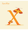 Animal alphabet with xanthie vector image vector image