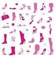 Collection of womens shoes vector image